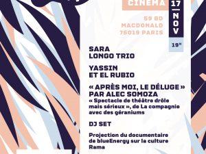 Soirée festive annuelle de blueEnergy le 17/11 à la Péniche Cinéma