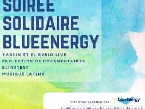 Soirée festive annuelle de blueEnergy le 1er juin à la Péniche Cinéma