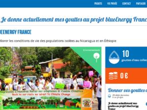 Soutenez gratuitement blueEnergy en utilisant Lilo !