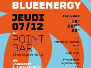 Dîner solidaire nicaraguayen de blueEnergy jeudi 7 décembre au Point Bar !