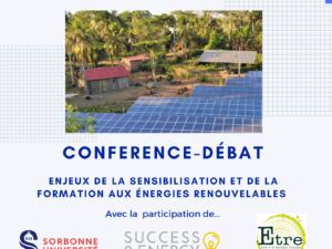 Energies Renouvelables – Sensibiliser pour mobiliser !Conférence-débat le 19 novembre 2021 !